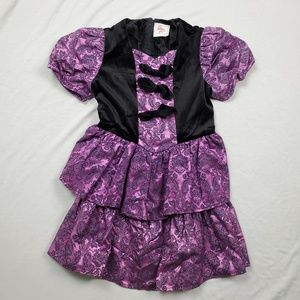 VTG Eber Girl Party Dress Ruffle Puffy Sleeves 12
